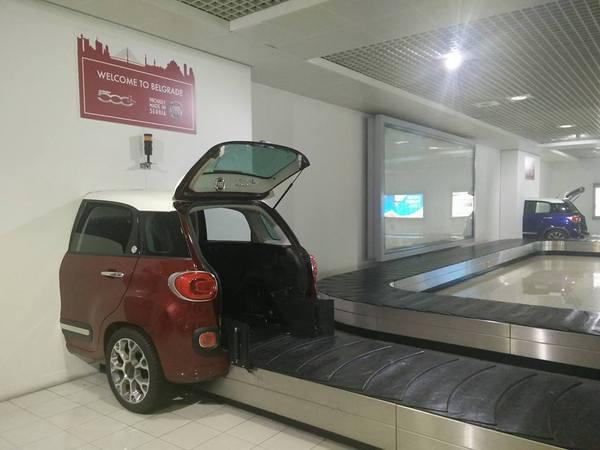 Транспортерная лента в аэропорту Белграда
