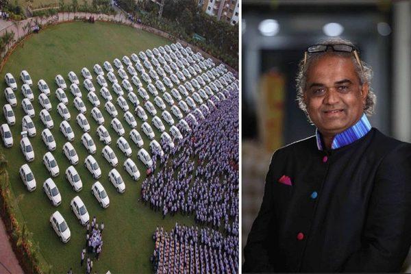 Бизнесмен подарил сотрудникам 1260 машин и 400 квартир богачи, подарок, деньги