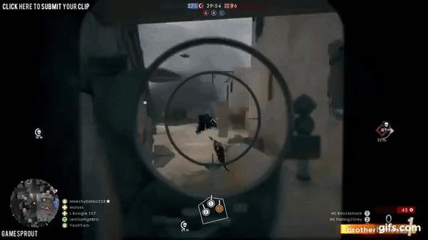 Видимо так себя ощущают NPC в стелс-экшенах Battlefield 1, стелс, умныйвраг, гифка