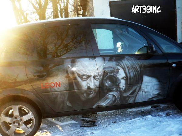 "Аэрография на автомобиле ""Леон"""