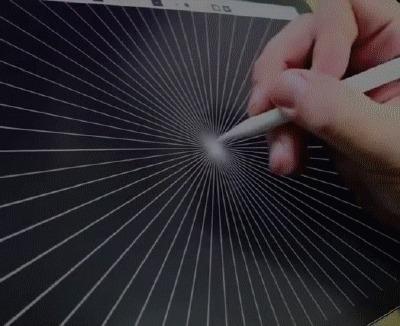 Залипалка Рисование, Amaziograph, iPad, Симметрия, Перфекционизм, Гифка