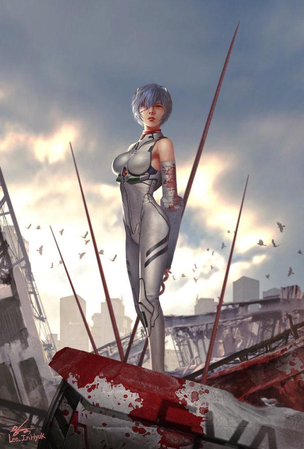 Shinseiki Evangelion Evangelion, Asuka Langley, Rei Ayanami, аниме