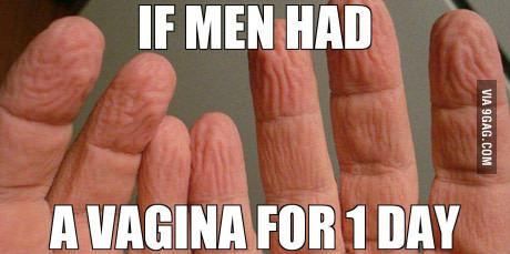 Если бы у мужчин на 1 день появилась вагина