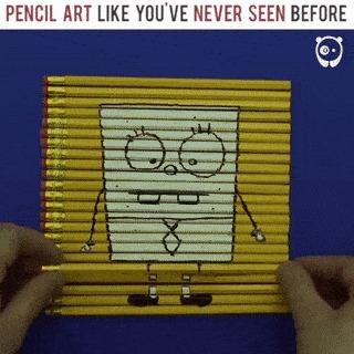Рисуем на карандашах