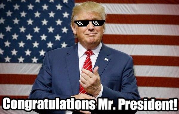 Congratulations Mr. President !