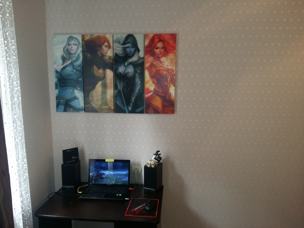 Своими руками: картина с героями Dota 2 в спальню Dota 2, Dota 2 art, Lina-Dota2, Traxex the Drow Ranger, Crystal Maiden, Windranger, Полиптих, Дота 2, Длиннопост