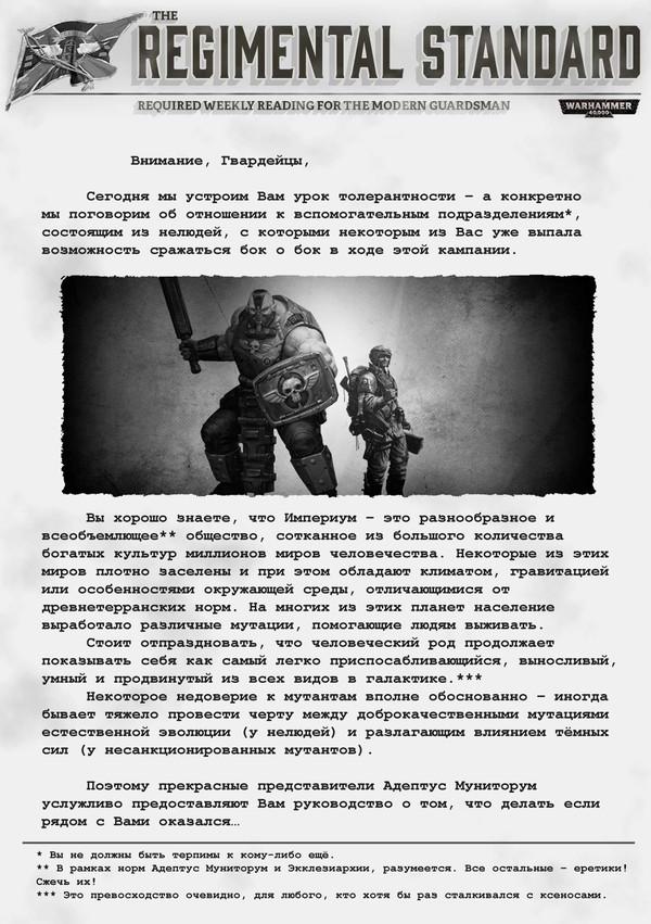 Нелюди и Вы Warhammer 40k, Astra Militarum, Полковой Штандарт, перевод, длиннопост