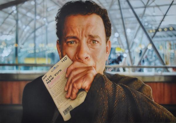 Аэрография. Том Хенкс аэрография, картина, портрет, Художник, школа аэрографии, рисунок, девушка с тату, Искусство