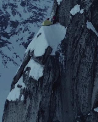 Пойдем с палатками, говорили они Путешествия, Экстрим, Горы, Кемпинг, Палатка, Red Bull, Гифка