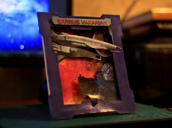Mass Effect 3D картина / Гаррус Вакариан/ Ручная работа Mass effect, Гаррус, Bioware, По мотивам, Ручная работа, Рукоделие, Своими руками, Открытка