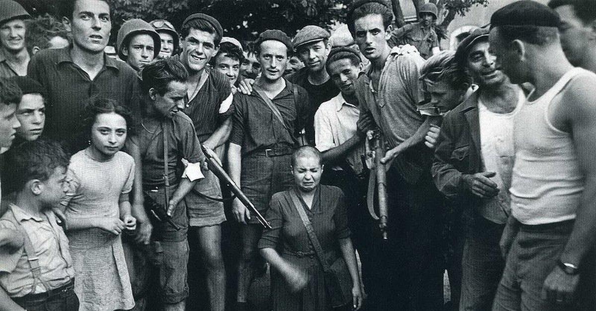 Война с женщинами во Франции после окончания Второй мировой войны.