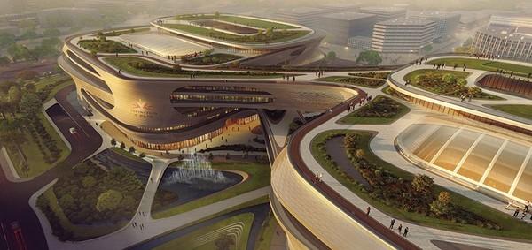 Проект центра медицины в Китае Проект, Медицинский центр, Китай, Zaha Hadid