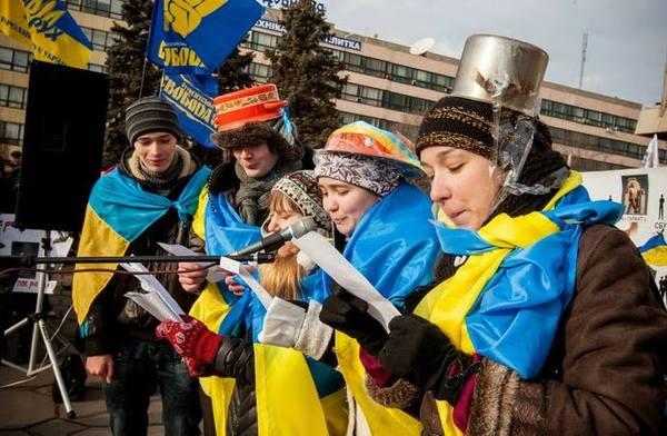 С праздником кастрюли, с третьей годовщиной революции гнидности, надеюсь все праздничные платёжки получили!!! Украина, Россия, майдан, политика