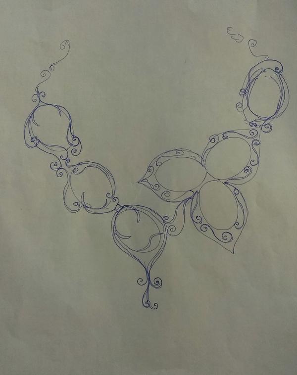 История создания колье Длиннопост, Украшение, Wire wrap, Рабочий процесс, Камень, Колье