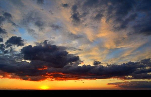 Закат закат, Небо, фото, Россия