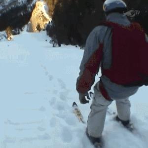 Лыжник улетел в пропасть