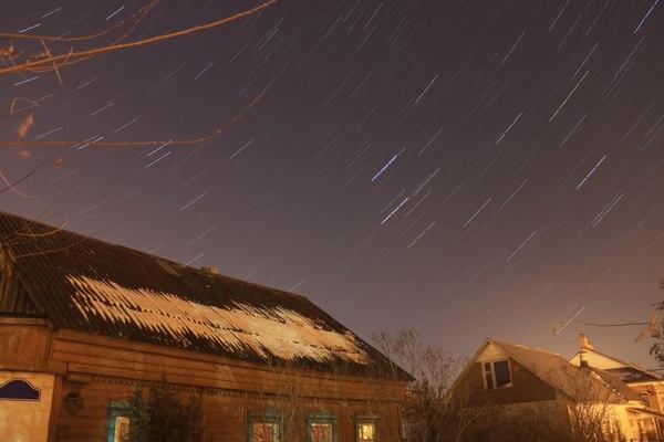 Морозное небушко. фото, звёзды, Небо, треки, астрофото