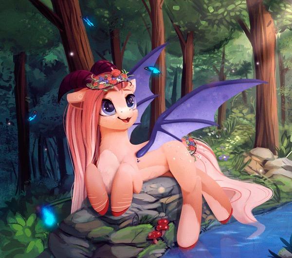 Cora (Animated) My little pony, Ponyart, Гифка