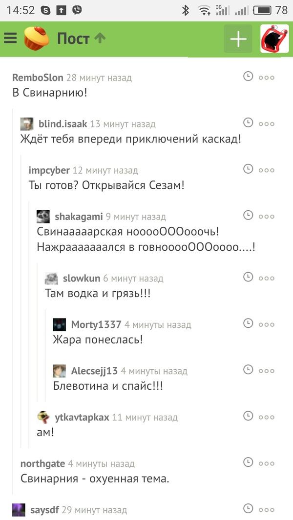 Комментарии Комментарии, Свинарник