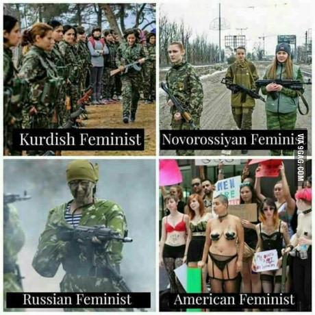 Так видят феминизм на 9GAG (^_^) 9gag, Феминизм, Девушки и армия, Картинки, Юмор