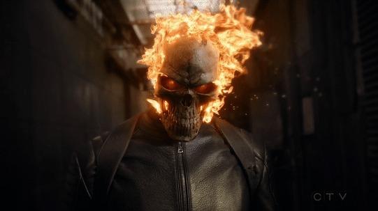 Ghost Rider [AOS S04E07] Marvel, Агенты щит, Призрачный гонщик, Гифка