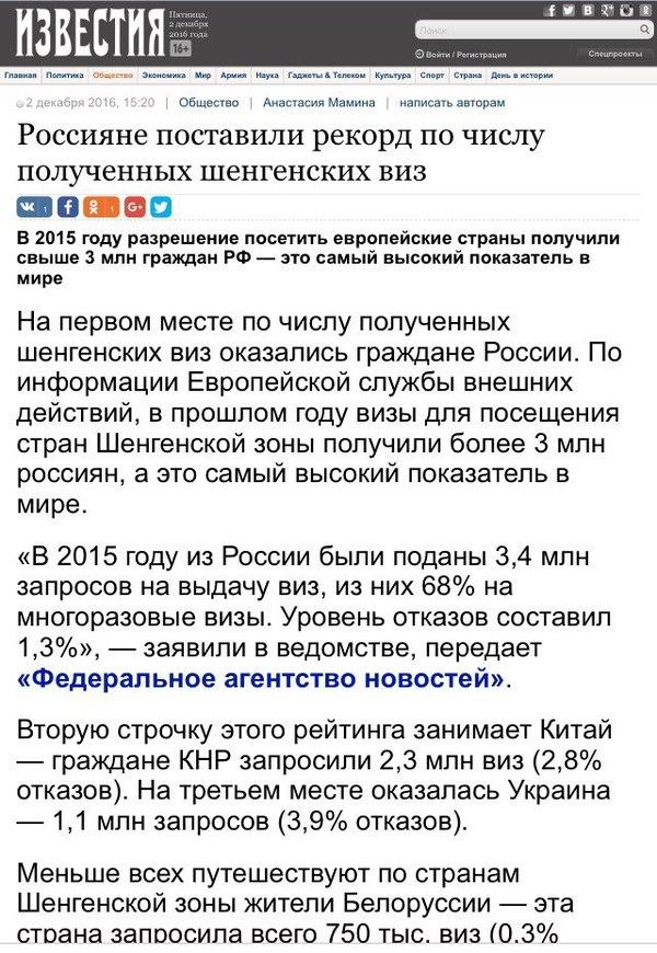 А ведь можно было развалить страну и получить безвиз. Украина, Безвиз, Россия, Шенген, Политика