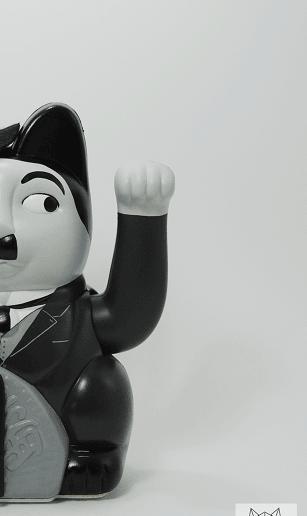 Просто манэки-нэко Чарли Чаплин, а не то, что вы подумали... Кот, Манеки неко, Чарли чаплин