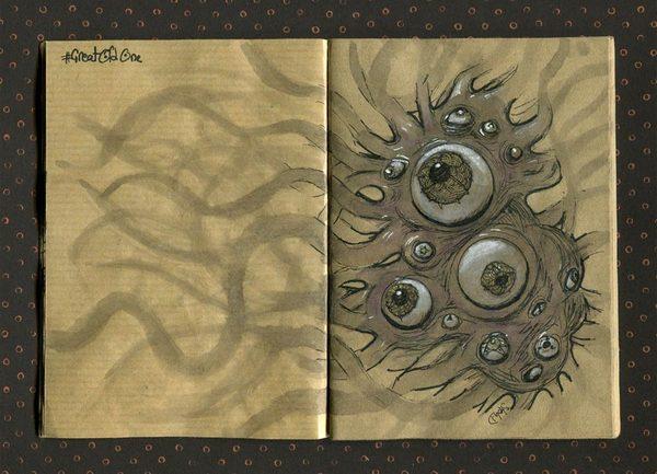 Рисунки монстров Говарда Филлипса Лавкрафта Говард Филлипс Лавкрафт, Лавкрафт, монстр, рисунок, длиннопост