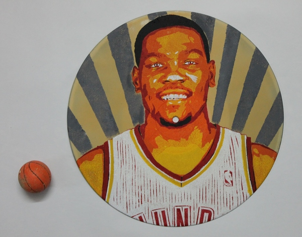 Виниловая пластинка Баскетбол, Винил, Арт, Кевин Дюрант, Баскетболист, Поп-Арт