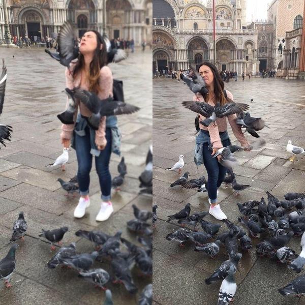 Девушка в венецианской маске трахает парня