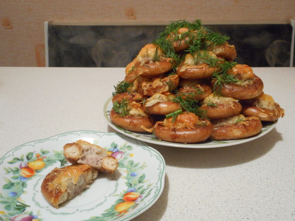 Фаршированные сушки Еда, Мясо, Сушки, Рецепт, Вкусно, Закуска, Мой рецепт, Длиннопост