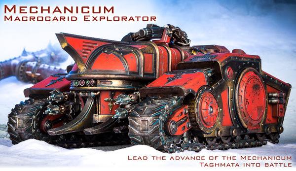 Макрокарид-Исследователь - командная машина Механикумов Warhammer 30k, Mechanicum, Forgeworld, Horus Heresy, Длиннопост