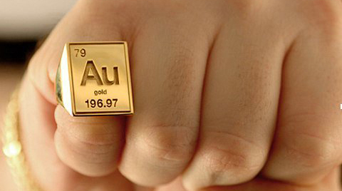 Периодические кольца Лига химиков, Металлы, Кольцо, Золото, Серебро, Платина, Дизайн