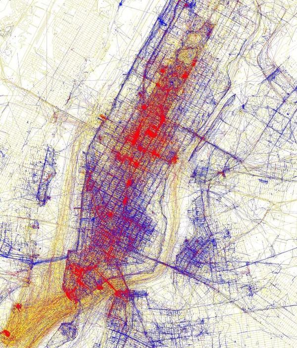 «Туристы против местных»: 19 карт, показывающих, как различаются их маршруты Не мое, Карты, Город, Москва, Нью-Йорк, Туристы, Местные, Длиннопост