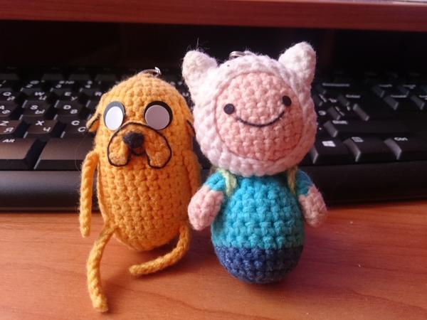 Хочу поделиться результатом хобби одного замечательного человека:) Вязание, Коллеги, Милота, Adventure time, Финн и джейк