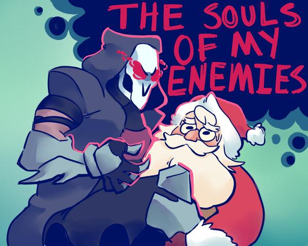 Подарок жнецу Overwatch, Комиксы, Жнец, Рождество