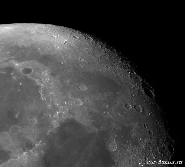 Луна, 16 декабря 2016 года. Луна, кратеры, астрофото, астрономия, космос, StarHunter, КраснодарБалкон, длиннопост