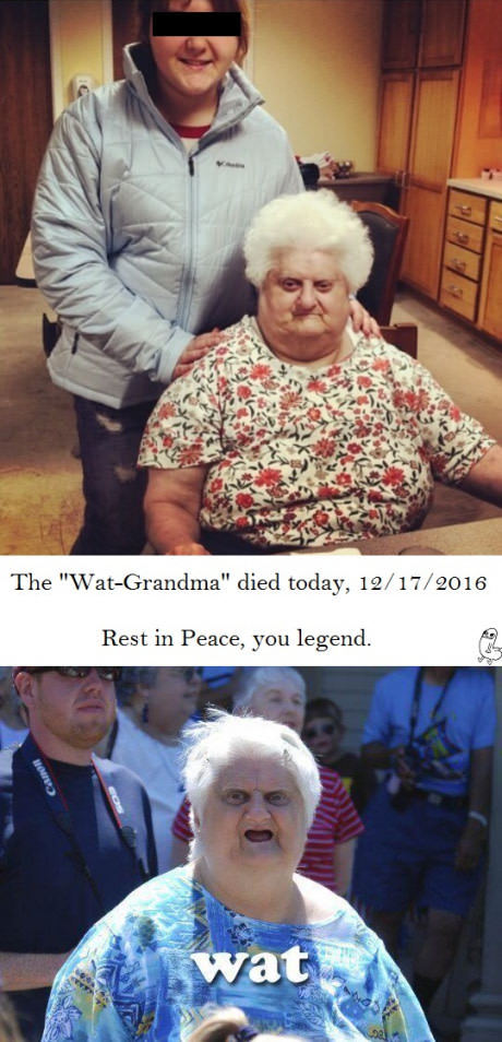 Легендарная бабуля вчера умерла.