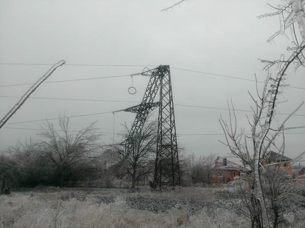 Ледяной дождь Ледяной, Дождь, Краснодар, ЛЭП, Длиннопост