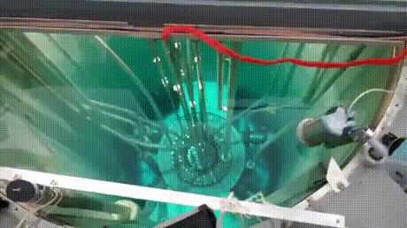 Запуск ядерного реактора Ядерный реактор, Свечение, Черенков, Гифка