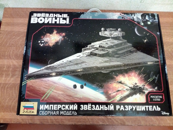 """Сборная модель """"Имперский звездный разрушитель"""". Распаковка Сборная модель, star wars, задроты, хобби, кот, имперский звездный разрушитель, длиннопост"""