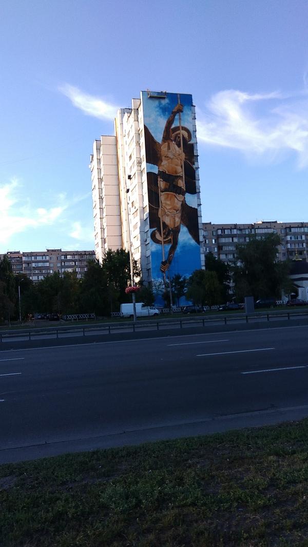 Еще несколько разрисованных домов в Киеве Мурал, Киев, Фото, Длиннопост