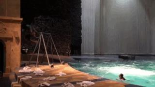 Артист Дю Солей (Лас Вегас) из Белоруссии Прыжки в воду, Cirque Du Soleil, Русские качели, Акробат, Экстрим, Гифка
