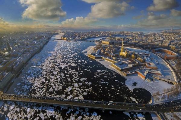 Зимний Петербург с высоты...