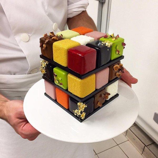 как приготовить торт кубик-рубик