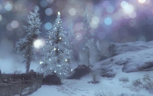 Новогодний Скайрим Skyrim, Гифка, Новый Год