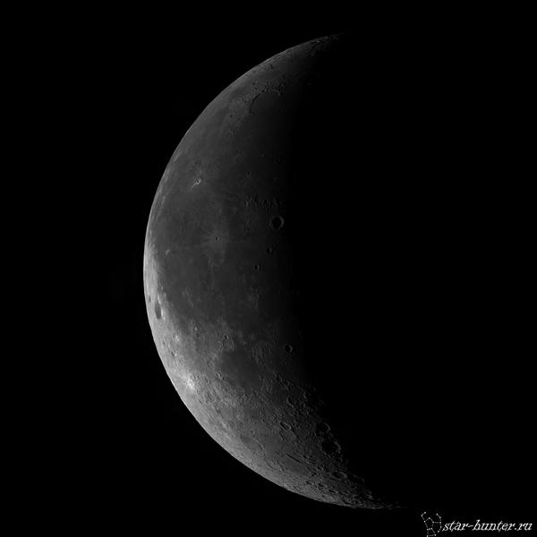 Луна, 23 декабря 2016 года, 4:21. Луна, кратеры, астрофото, астрономия, космос, StarHunter, КраснодарБалкон