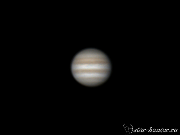 Юпитер, 23 декабря 2016 года, 04:10. Юпитер, астрономия, астрофото, космос, планета, StarHunter, КраснодарБалкон