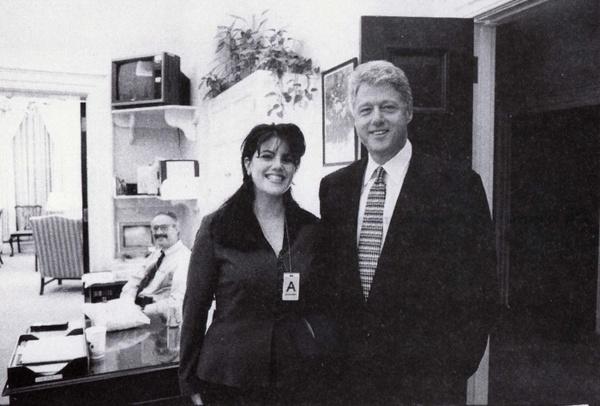 Просто друзья, 1995 год, Вашингтон, США Клинтон, Моника Левински, Фото
