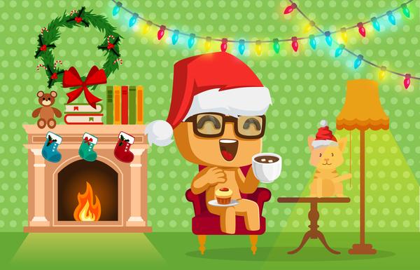 С наступающим Новым годом! :) Новый Год, пикабу, поздравление, Печенька